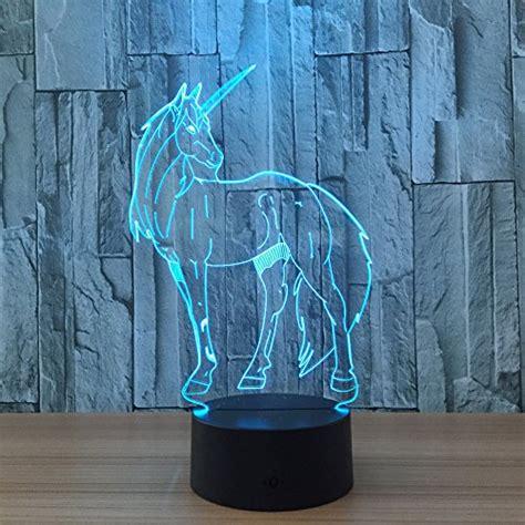 3d led l unicorn gift circle circle unicorn 3d optical illusion l 7 colors