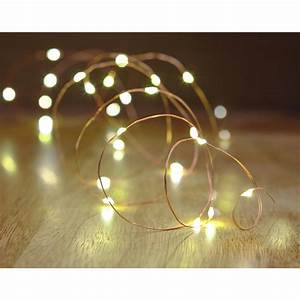 Hampton Bay 16 Ft  Battery Powered 25 Bulb Copper Wire Indoor  Outdoor String Light