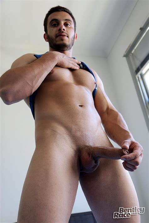 Straight australian Beefy Muscular Guy Strokes His Thick Uncut cock big Uncut cock