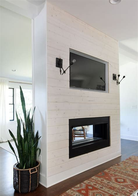 Shiplap Fireplace by Diy Modern Shiplap Fireplace Featuring Wood