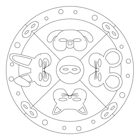 Mandala ausmalbilder fasching informations about mandala ausmalbilder fasching pin you can easily use in 2020 coloring pages for kids coloring pages carnival crafts. Mandala di Carnevale - maschere degli animali per ...