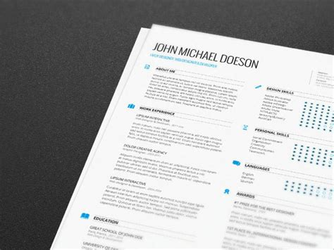 cv template free indesign resume cv templates free