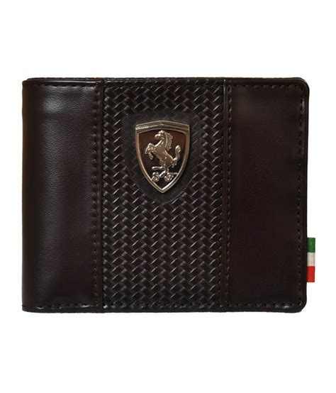puma mens brown ferrari bi fold wallet buy