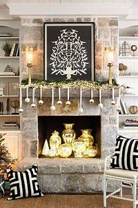 Ballard Designs Christmas Ornaments 3 Festive Holiday Fireplace Mantels How To Decorate