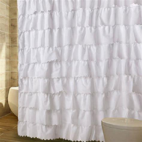 white ruffle shower curtain ruffled shower curtain