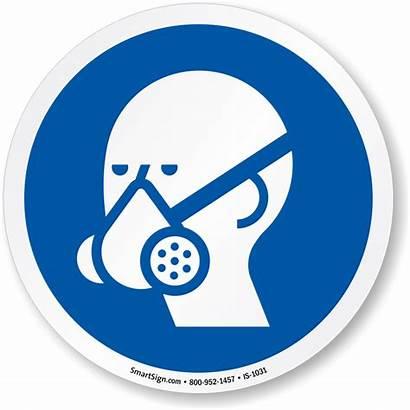 Respirator Sign Iso Mandatory Wear Vapor Circle