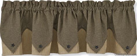 Primitive Star Lined Point Curtain Valance