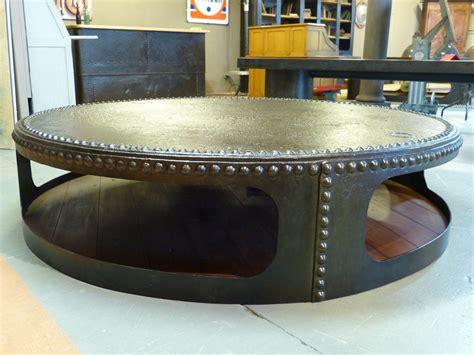 table basse ronde mobilier meuble de style industriel