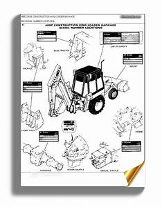 Case 480c Construction King Backhoe Parts Catalog