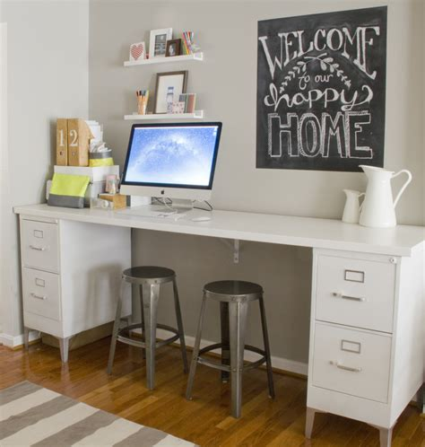 desk with file cabinet 15 ways to make over an ugly file cabinet