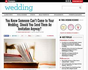 phillymag you know someone cant come should you With can you send wedding invitations through email