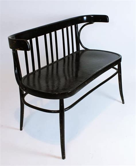 antique settee bench vintage 1930 bentwood thonet two seater bench settee