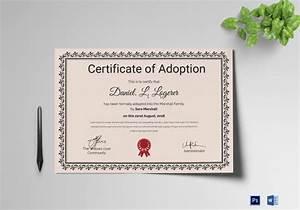 vesting certificate template - child adoption certificate template images certificate