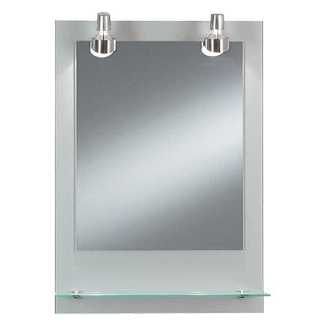 badspiegel mit ablage und beleuchtung kristall form lichtspiegel pascal 50 x 70 cm glasablage energieeffizienzklasse c bauhaus