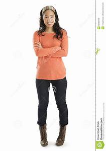 Portrait Of Woman Standing Arms Crossed Stock Image ...