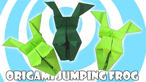 paper origami jumping frog tutorial origamite youtube