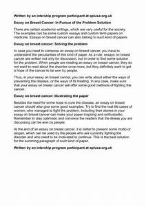 Argumentative Essay Examples For High School Essay On Cancer Free Indiana Topics For Synthesis Essay also Sample Essay Paper Essay On Cancer Best Way To Start A Thesis Statement Essay On Cancer  Marriage Essay Papers