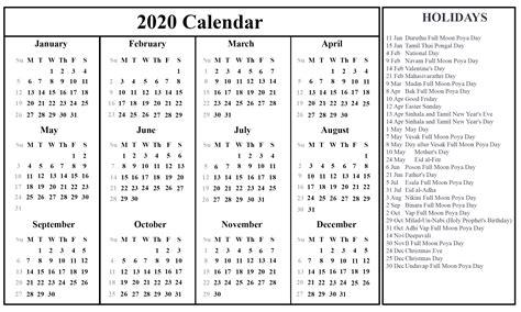 printable sri lanka calendar excel word printable