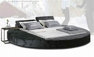 Latest Bed Designs Furniture Pu Round Bed Zd-p18 - Buy Pu