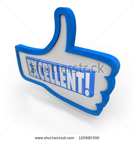 Word Excellent Give Positive Feedback Something Stock