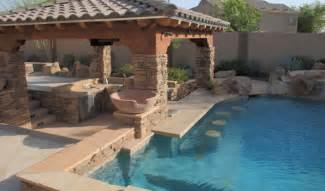 Swimming Pool with Swim Up Bar
