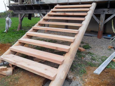 construire un escalier exterieur escalier en bois pour le jardin escaliers conception des
