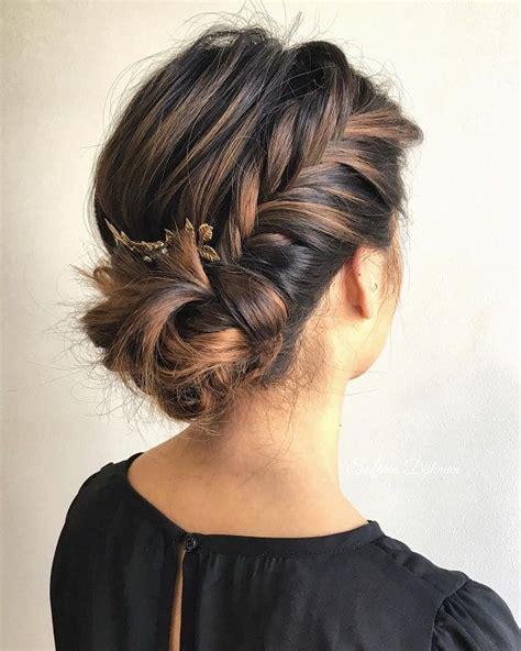 fishtail side bun wedding hairstyle wedding hair ideas