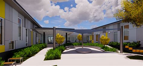 construction starts on jefferson early childhood center in 460 | JeffersonEarlyChildhoodCenter SensoryCourtyard Rendering