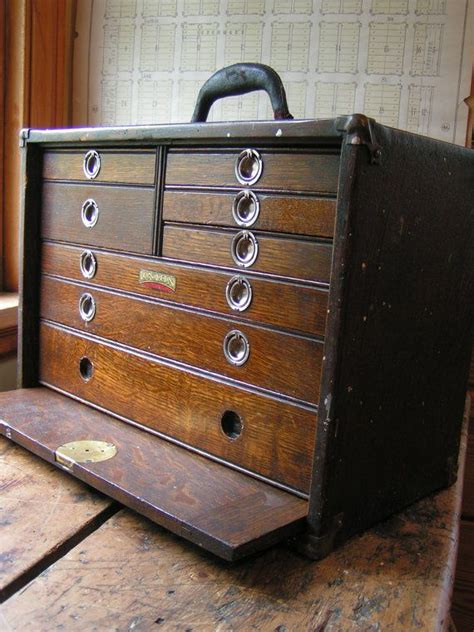 vintage union tool chest wood machinists chest