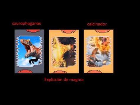 Sus cartas de poder son tipo rayo aqui les dejo unos ejemplos. Dino rey - dinosaurios con sus cartas de ataques originales - YouTube