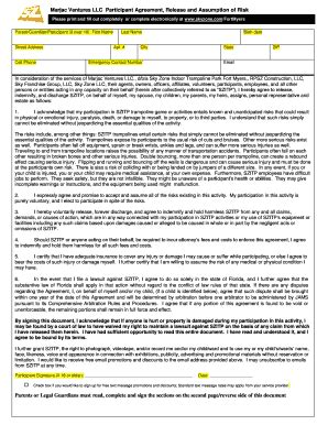 sky zone waiver form sky zone fort myers fill printable fillable