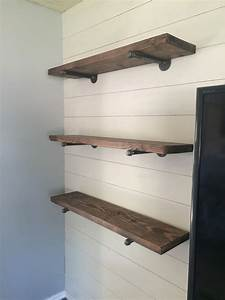 Rustic, Floating, Pipe, Shelves