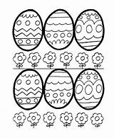 Coloring Easter Eggs Egg Pages Easy Sheets Printable Outlines Hard Bluebonkers sketch template