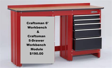 craftsman  workbench craftsman  drawer workbench