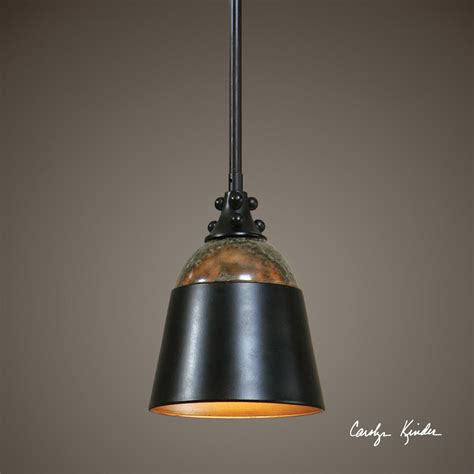 rubbed bronze mini hanging pendant light ceiling