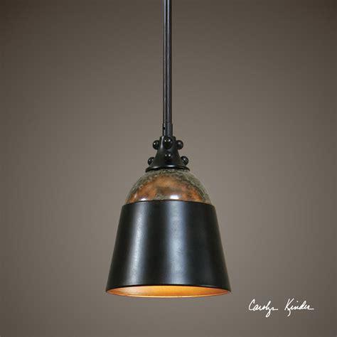 Dark Rubbed Bronze Mini Hanging Pendant Light Ceiling