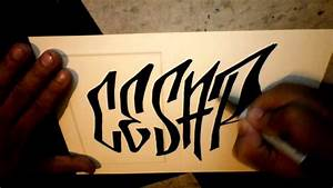 How to graffiti tag CESAR YouTube