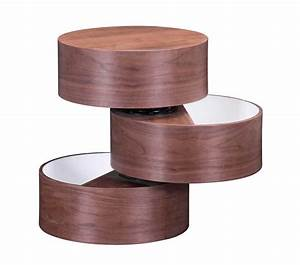 Unique, Shape, Side, Table, In, Walnut, Z022