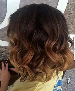 Ombré Hair Marron Caramel : 40 on trend balayage short hair looks ~ Farleysfitness.com Idées de Décoration