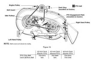 yardman mtd 46 deck drive belt routing yardman free engine image for user manual
