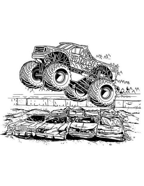 monster truck blue thunder monster truck coloring page monster truck coloring pages truck