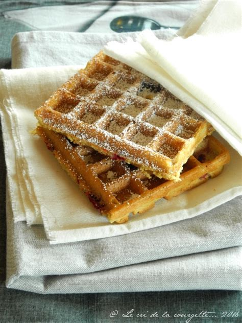 gaufres sans gluten 224 la bi 232 re et 224 la framboise de recettes bio le cri de la courgette