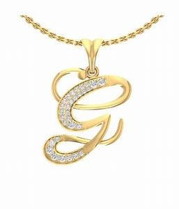 jewels5 g letter diamond studded gold pendant buy jewels5 With letter g diamond pendant
