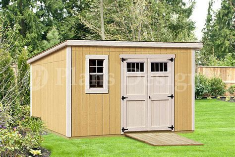 Garden Shed Plans 8x12 by Modern Roof Style 8 X 12 Deluxe Shed Plans D0812m