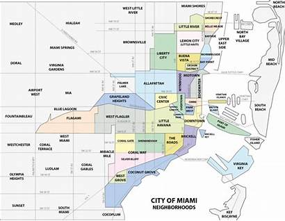 Miami Florida Tourist Neighborhoods Peak Season Map