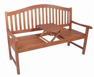 Bank Aus Holz : gartenbank mit ausklappbarem tisch aus eukalyptus holz fsc ~ Whattoseeinmadrid.com Haus und Dekorationen