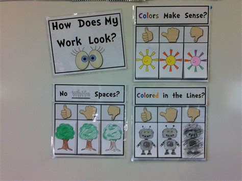coloring rubric   primary classroom