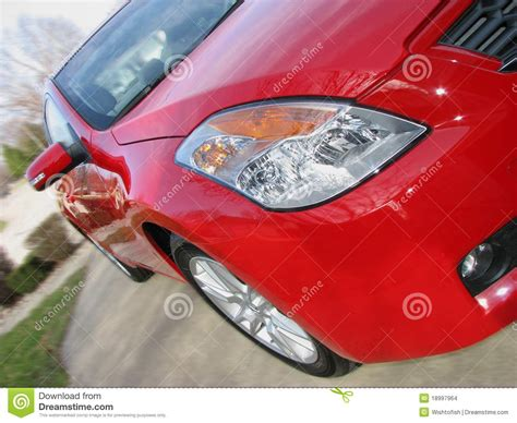 Red Shiny Car Stock Images