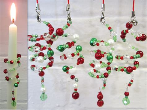 beaded christmas decorations candle wrap kit traditional