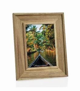 Cadre Photo A Poser : cadre photo poser en bois d 39 acacia pour photo 10 15cm ~ Teatrodelosmanantiales.com Idées de Décoration